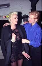 "BRIGITTE NIELSEN and date leave nightclub - 4 original 4x6"" photos -1992"