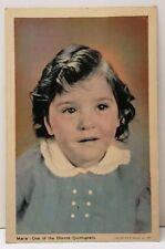1937 Dionne Quintuplets MARIE Adorable Vintage Postcard E17