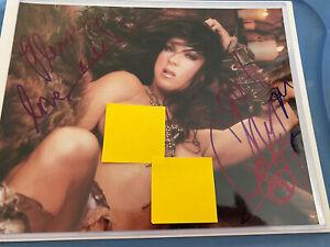 Chyna WWE Signed Nude 8x10 Photo