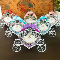 AM_ Cinderella Carriage Candy Chocolate Boxes Wedding Party Favour Decor Box Wel