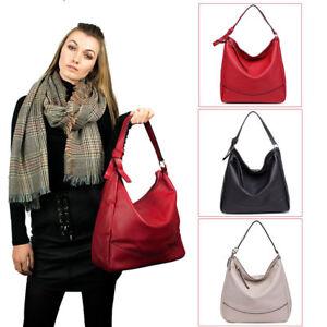 Ladies Soft Faux Leather Hobo Handbag Satchel Shoulder Tote Bag Women