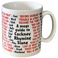 Cockney Rhyming Slang Dialect Coffee - Tea Mug - Joke - Idea Gift / Secret Santa