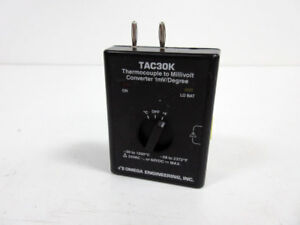 OMEGA ENGINEERING TAC30K THERMOCOUPLE TO MILLIVOLT CONERTER 1MV/DEGREE