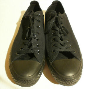 Converse All Star OX All Black mens size 12 , wo's 14