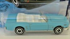 1965 FORD MUSTANG CONVERTIBLE (Blue) 1:64 Hot Wheels Diecast Sports Car Sealed