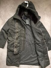 "ALL SAINTS WOMEN'S KHAKI GREEN ""TYRA"" PARKA JACKET COAT - SMALL - NEW & TAGS"