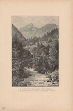 Kandersteg und Lohner Berner Oberland DRUCK von 1895 Schweiz