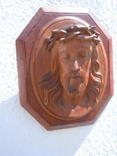 Bas-relief en bois sculpture le Christ d'époque 20ème