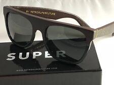 RetroSuperFuture Flat Top Leather & Acetate Frame Sunglasses 862 NIB