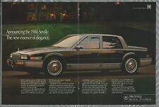 1986 CADILLAC SEVILLE 2-page advertisement, Cadillac Seville sedan