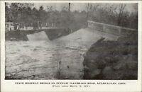 Attawaugan CT 1936 Flood Postcard
