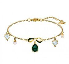 Swarovski Black Baroque Bracelet Gold Plated 5490981 New