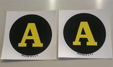 John Deere Model A Tractor Replacement Circle/Round Decals Water Transfer 2.5""
