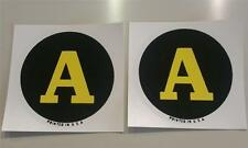"""John Deere Model A Tractor Replacement Circle/Round Decals Water Transfer 2.5"""""""