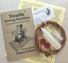 Kit of Treadle Sewing Machine Book, Belt, Oiler with Oil, Lint Brush and Felts