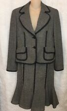 Escada Suit 2 Pc Navy And White Tulip Skirt Size 8/10