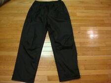 HIGH SIERRA SPORT black nylon waterproof windproof breathable rain pants XLarge