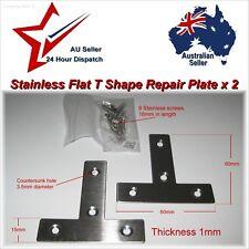 2Pcs 60mm Stainless Steel Flat T Shape Tee Repair Plate Bracket corner brace fix