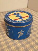 "Unknown Vintage Baseball Ball ""USL"" Tin Can. Universal Sports League 3-3/4x2-3/4"