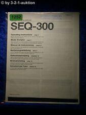 Sony Bedienungsanleitung SEQ 300 Graphic Equalizer (#1252)