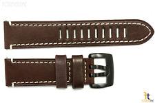Luminox 1807 Field Auto 23mm Dark Brown Leather Watch Band Strap