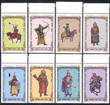 Mongolia 1997 HORSES/Warriors/Soldiers/Military/Archery/Weapons 8v set (n15616)