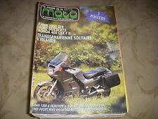 LE MONDE DE LA MOTO 138 07.1986 KAWASAKI 1000 GTR HONDA 400 CBX MOTO GUZZI V75