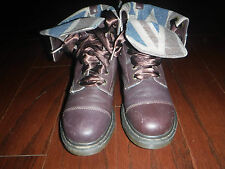 DR MARTENS TRIUMPH BRITISH FLAG LINING BROWN LEATHER  BOOTS LADIES  SZ 41 / 9