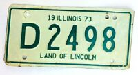 Illinois 1973 Motorcycle Old License Plate Garage Vtg Man Cave Car Auto Decor