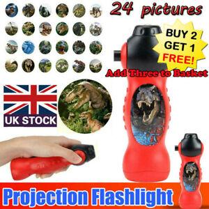 Dinosaur Pattern Torch Projector Flashlight Kids Bedtime Storys Educational Toy