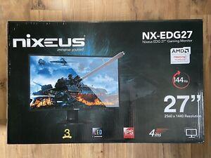 "Nixeus EDG 27"" IPS 2560 x 1440 AMD FreeSync 144Hz Ultra HD"
