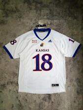 Men's Adidas NCAA Kansas Jayhawks Premier Football Jersey White sz LARGE