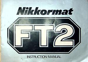 Nikon Nikkormat FT2 Film Camera Instruction Manual