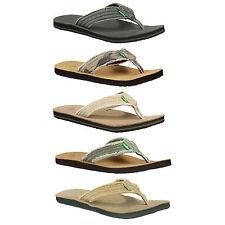 Sanuk Fraid Not Men's Canvas Flip Flop / Sandal RRP £39.99