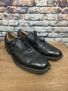 FootJoy ICON Black Wingtip Leather Golf Shoes Softspikes Men's Size 12M 52276