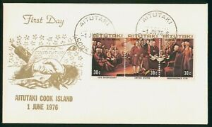 Mayfairstamps Aitutaki Cook Islands FDC 1976 US Bicentenary Combo First Day Cove