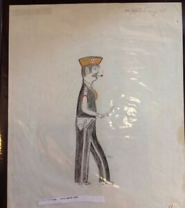John Toney   FOLK ART PAINTING  OUTSIDER VINTAGE  Soldier, 1995