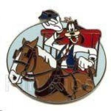 Disney Pin: WDW Hidden Mickey Transportation Goofy/Horse Drawn Trolley