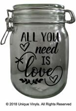 All you need is Love - Jar Sticker, Candle Sticker, Jar Label, LOVE Sticker