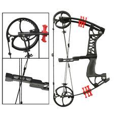 Archery Compound Bow 30-55lbs Dual-use Catapult Steel Ball Arrows Aluminium Hunt
