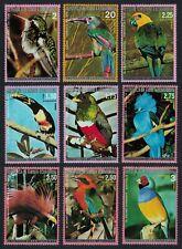 Eq. Guinea Parrot Kingfisher Toucan Birds Australia 9v CTO