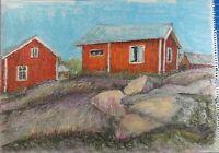 Rolf Janssen Wilhelmshaven Kreidezeichnung unsigniert Finnland 1976 O-2215
