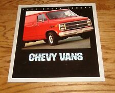 Original 1984 Chevrolet Truck Chevy Vans Sales Brochure 84 Cutaway