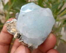 474 Carets Beautiful Aquamarine  With Muscovite Specimen  From Nagar