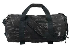 Nixon Black Multicam Duffle Bag Overnighter Weekend Camouflage Pipes 25L