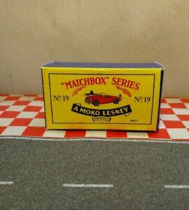 Matchbox Moko Lesney No19 Green MG EMPTY Reproduction box only  NO CAR