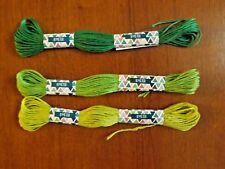 lot de 3 échevettes de fils à broder 3 verts différents (3)