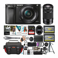 Sony Alpha a6000 24.3 MP Mirrorless ILC with Two Lens Ultimate Camera Bundle