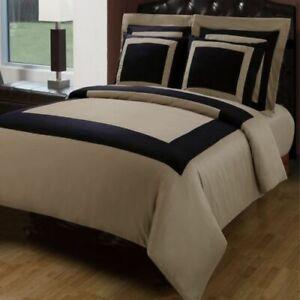 LUXURY Hotel 5 Piece Duvet Cover with Pillow Shams 100% Cotton Set SUPER ELEGANT