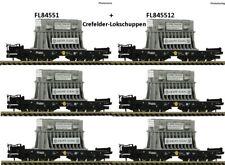 Fleischmann N 845511 set 3 vagones de plataforma pesados Samms